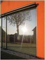 Blendschutz bei großen Fensterflächen