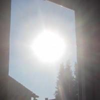 Fensterglas und Sonnenstrahlung
