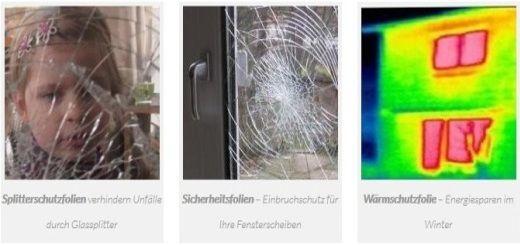 Glasfolien für Fenster