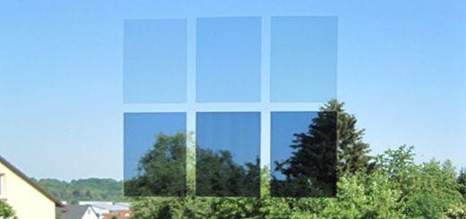 hitzeschutz f r fensterscheiben mit sonnenschutzfolie spiegelfolie. Black Bedroom Furniture Sets. Home Design Ideas