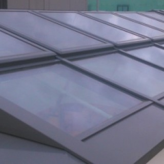 Glasdach mit Sonnenschutzglas