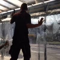 Transparente Schaufensterfolie