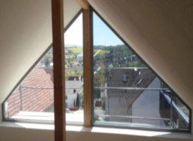 Sonnenschutz und Blendschutz mit Sonnenschutzfolie des Typs Optimal A